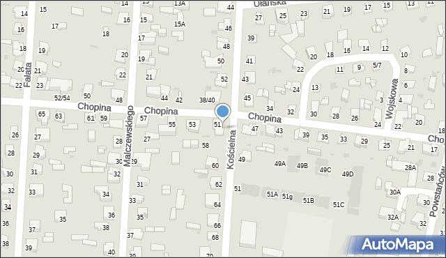 Częstochowa, Kościelna, 56, mapa Częstochowy