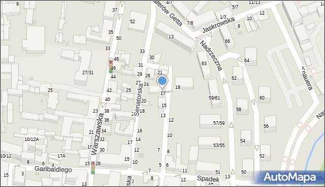 Częstochowa, Kozia, 17, mapa Częstochowy