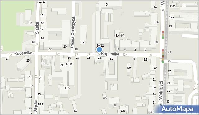 Częstochowa, Kopernika Mikołaja, 13, mapa Częstochowy