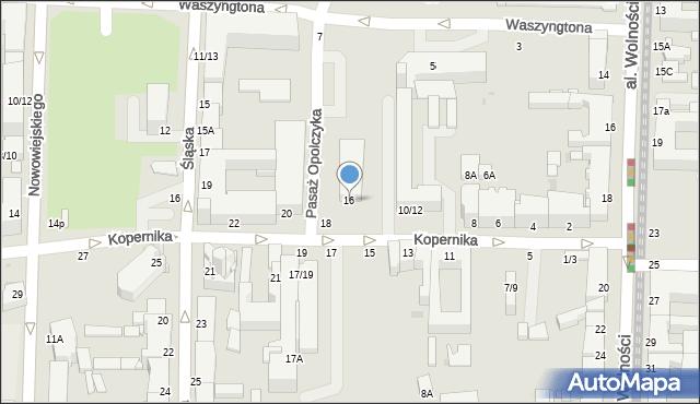 Częstochowa, Kopernika Mikołaja, 16, mapa Częstochowy