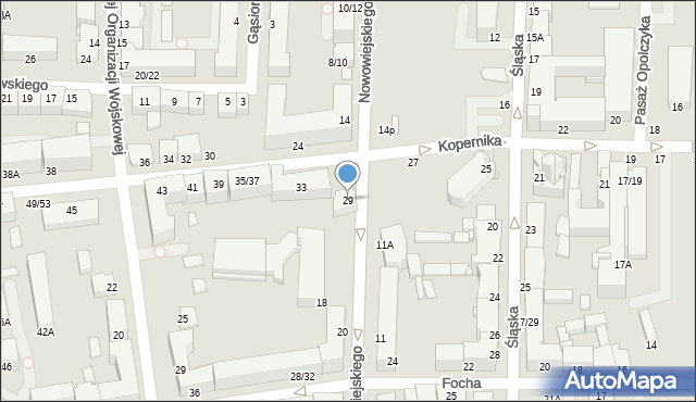 Częstochowa, Kopernika Mikołaja, 29, mapa Częstochowy