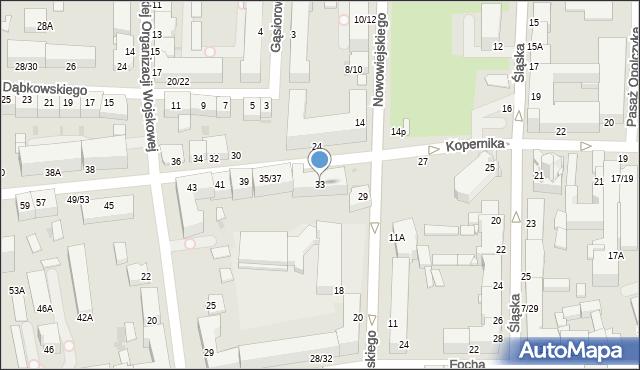 Częstochowa, Kopernika Mikołaja, 33, mapa Częstochowy