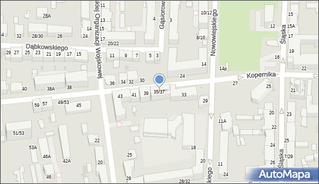Częstochowa, Kopernika Mikołaja, 35/37, mapa Częstochowy