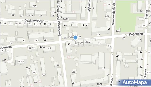 Częstochowa, Kopernika Mikołaja, 41, mapa Częstochowy