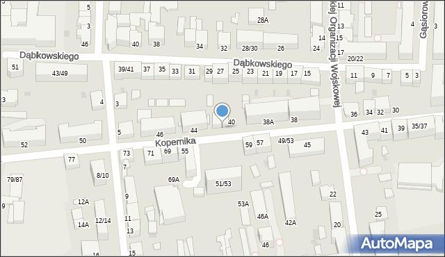 Częstochowa, Kopernika Mikołaja, 42, mapa Częstochowy