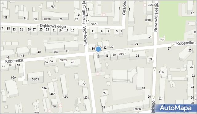 Częstochowa, Kopernika Mikołaja, 43, mapa Częstochowy