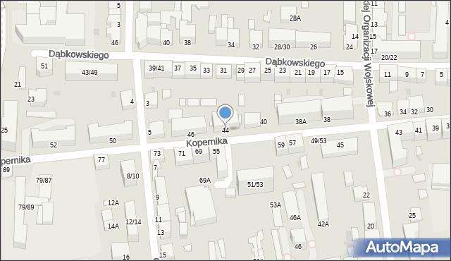 Częstochowa, Kopernika Mikołaja, 44, mapa Częstochowy