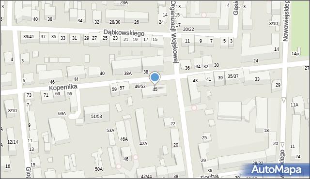 Częstochowa, Kopernika Mikołaja, 45, mapa Częstochowy