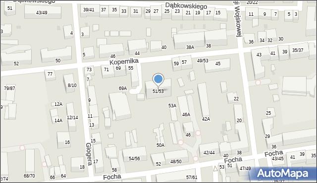 Częstochowa, Kopernika Mikołaja, 51/53, mapa Częstochowy