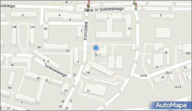 Częstochowa, Korczaka Janusza, 5, mapa Częstochowy