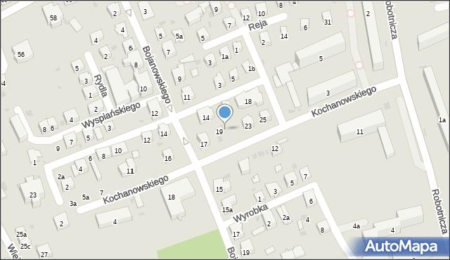 Dębica, Kochanowskiego Jana, 21, mapa Dębicy