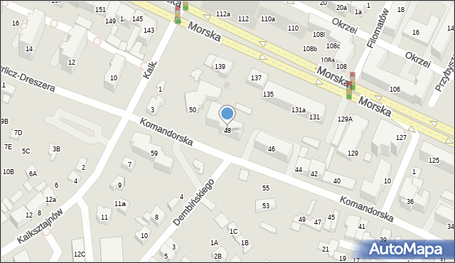 Gdynia, Komandorska, 48, mapa Gdyni