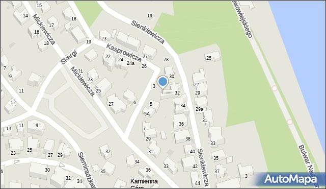 Gdynia, Kochanowskiego Jana, 3, mapa Gdyni