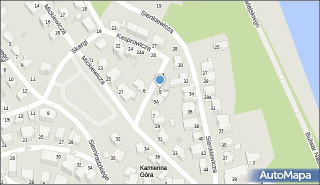 Gdynia, Kochanowskiego Jana, 5, mapa Gdyni