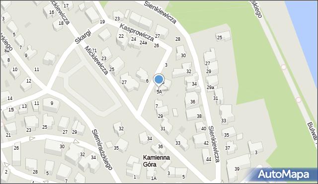 Gdynia, Kochanowskiego Jana, 5A, mapa Gdyni