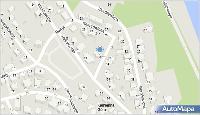 Gdynia, Kochanowskiego Jana, 6, mapa Gdyni