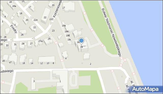 Gdynia, Korzeniowskiego Józefa, 19, mapa Gdyni
