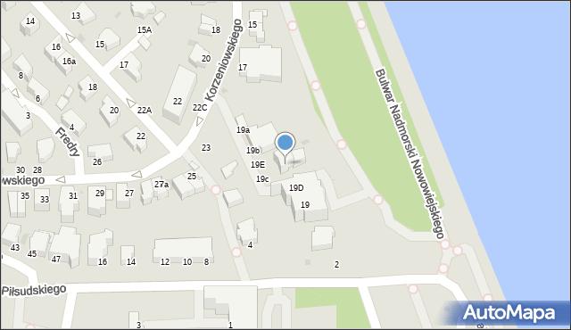Gdynia, Korzeniowskiego Józefa, 19c, mapa Gdyni