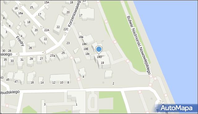 Gdynia, Korzeniowskiego Józefa, 19D, mapa Gdyni