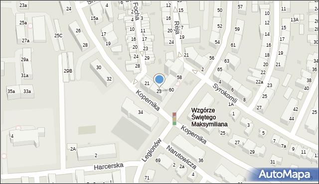 Gdynia, Kopernika Mikołaja, 23, mapa Gdyni