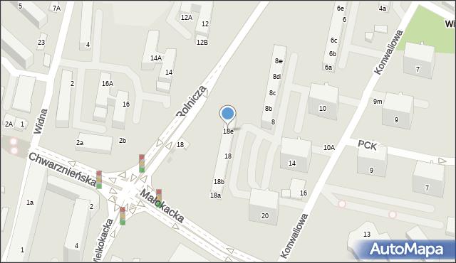 Gdynia, Konwaliowa, 18e, mapa Gdyni