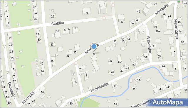 Gliwice, Korczoka Antoniego, ks. dr., 32, mapa Gliwic