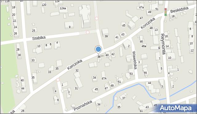 Gliwice, Korczoka Antoniego, ks. dr., 36, mapa Gliwic