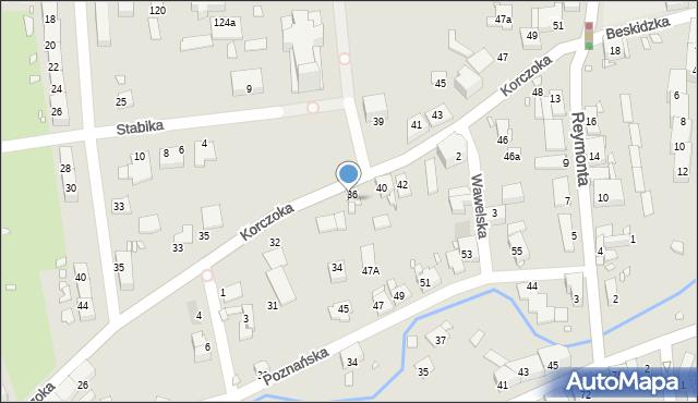Gliwice, Korczoka Antoniego, ks. dr., 38, mapa Gliwic