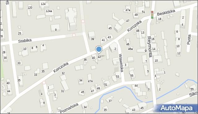 Gliwice, Korczoka Antoniego, ks. dr., 42, mapa Gliwic