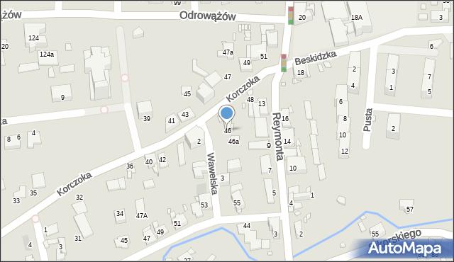 Gliwice, Korczoka Antoniego, ks. dr., 46, mapa Gliwic