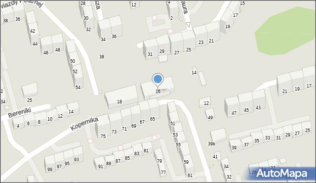 Gliwice, Kopernika Mikołaja, 16, mapa Gliwic