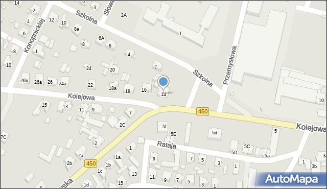 Grabów nad Prosną, Kolejowa, 14, mapa Grabów nad Prosną