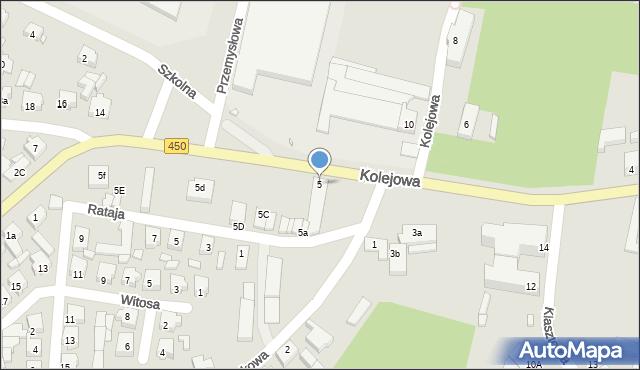 Grabów nad Prosną, Kolejowa, 5, mapa Grabów nad Prosną