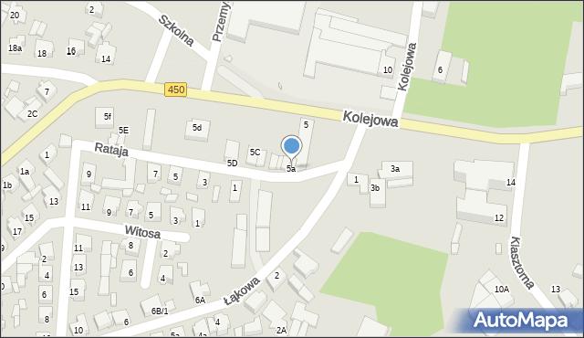 Grabów nad Prosną, Kolejowa, 5a, mapa Grabów nad Prosną