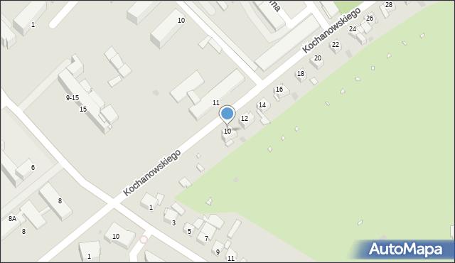 Grudziądz, Kochanowskiego Jana, 10, mapa Grudziądza