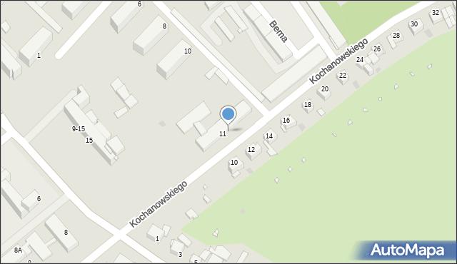 Grudziądz, Kochanowskiego Jana, 13, mapa Grudziądza