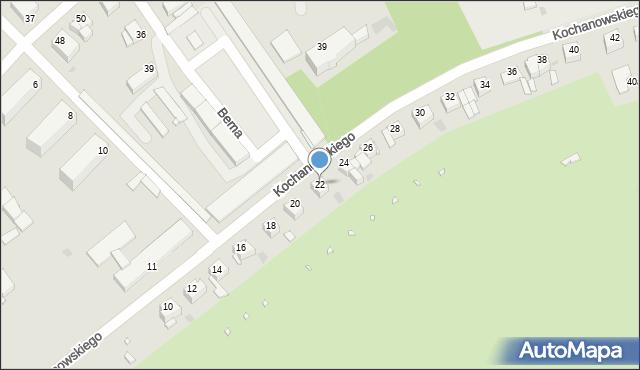 Grudziądz, Kochanowskiego Jana, 22, mapa Grudziądza