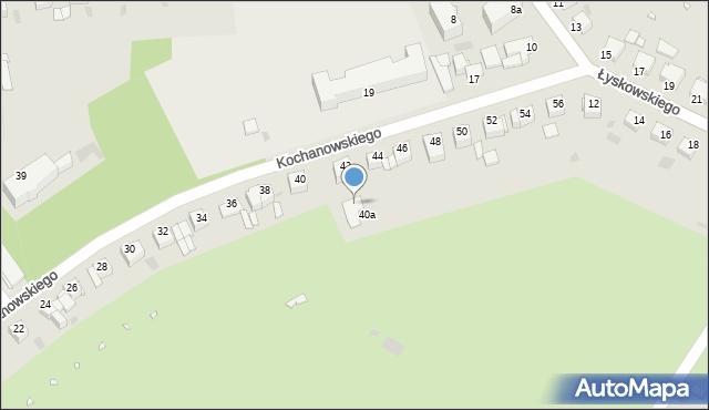 Grudziądz, Kochanowskiego Jana, 42a, mapa Grudziądza