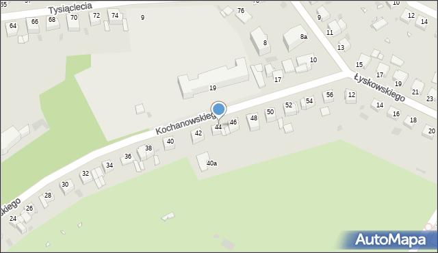 Grudziądz, Kochanowskiego Jana, 44, mapa Grudziądza