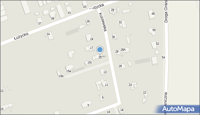Grudziądz, Kociewska, 15, mapa Grudziądza