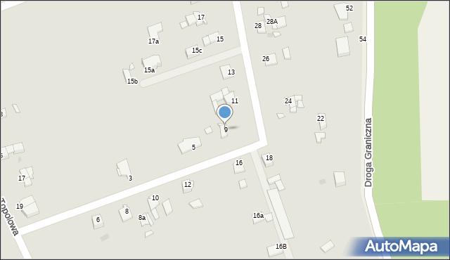 Grudziądz, Kociewska, 9, mapa Grudziądza