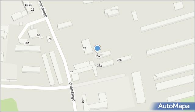Grudziądz, Konarskiego, 35a, mapa Grudziądza