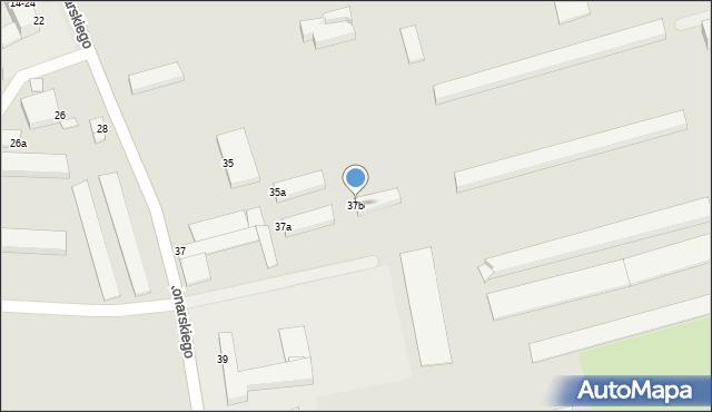 Grudziądz, Konarskiego, 37b, mapa Grudziądza