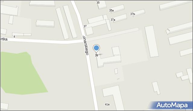Grudziądz, Konarskiego, 39, mapa Grudziądza