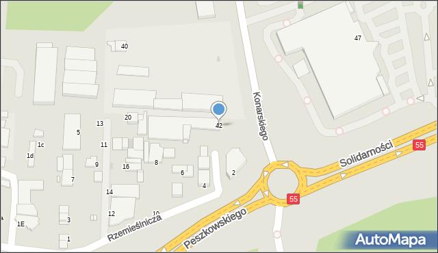 Grudziądz, Konarskiego, 42, mapa Grudziądza