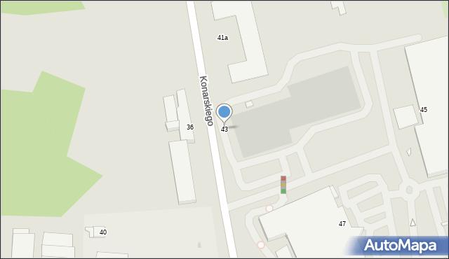 Grudziądz, Konarskiego, 43, mapa Grudziądza