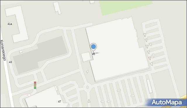 Grudziądz, Konarskiego, 45, mapa Grudziądza