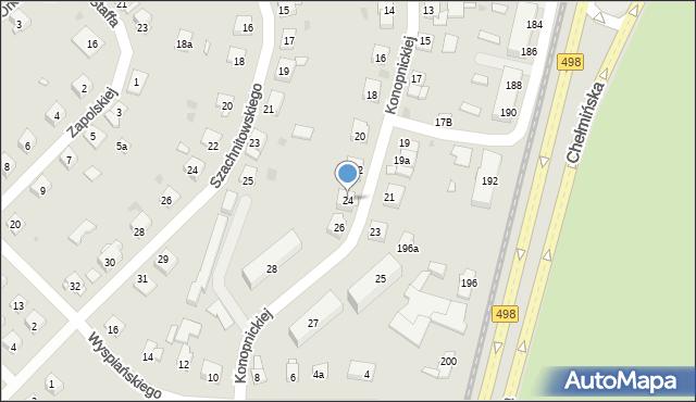 Grudziądz, Konopnickiej Marii, 24, mapa Grudziądza