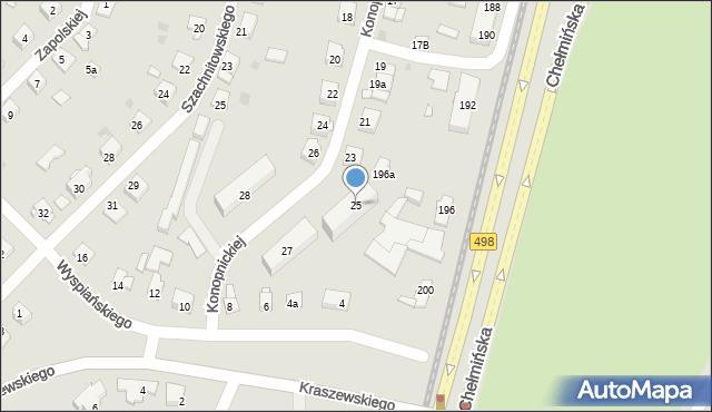 Grudziądz, Konopnickiej Marii, 25, mapa Grudziądza