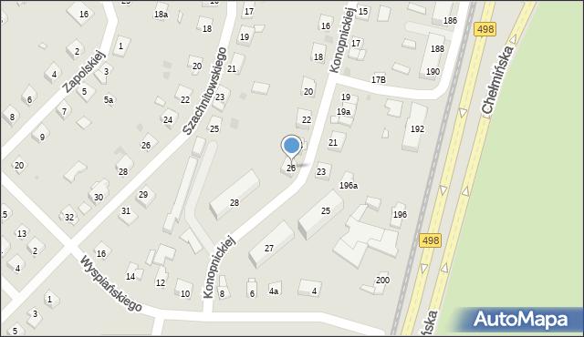 Grudziądz, Konopnickiej Marii, 26, mapa Grudziądza
